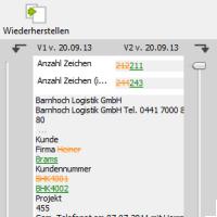 Versionsverwaltung in amagno