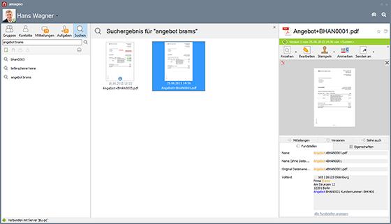 Volltextsuche DMS Software