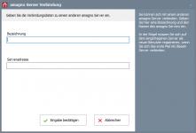 server eintrag leer 221x150 - Anmeldung und Auswahl AMAGNO Server - Erste Schritte