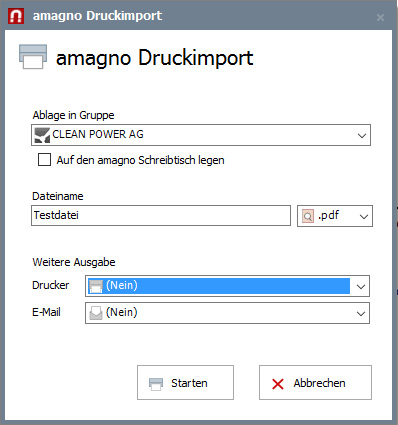 Druckertreiber für AMAGNO installieren – Erste Schritte