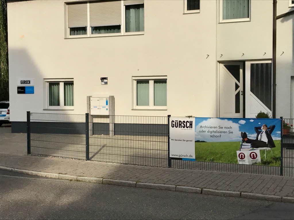 Außenwerbung von AMAGNO bei der Gürsch GmbH