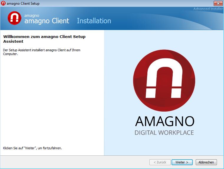 Installation AMAGNO Client für Windows – Erste Schritte