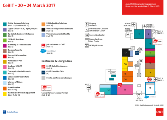 CeBIT 2017 Hallenplan Dokumentenmanagement