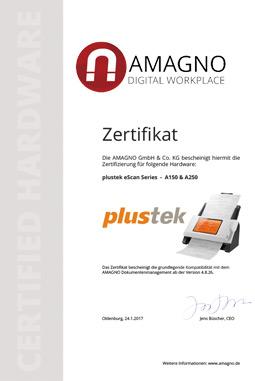plustek dokumentenscanner amagno - plustek Dokumentenscanner der eScan Serie für AMAGNO zertifiziert
