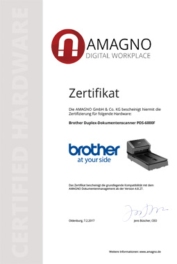 Brother PDS-Serie zertifikat