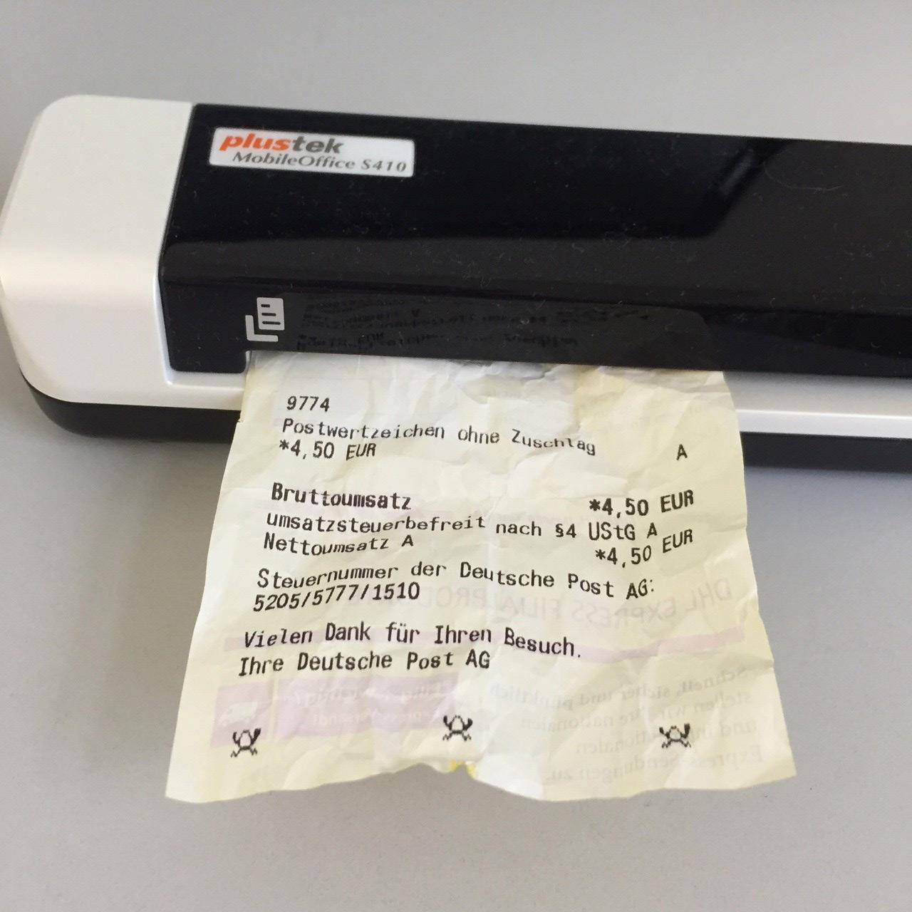 Schlechte Quittungen und Belege scannen.