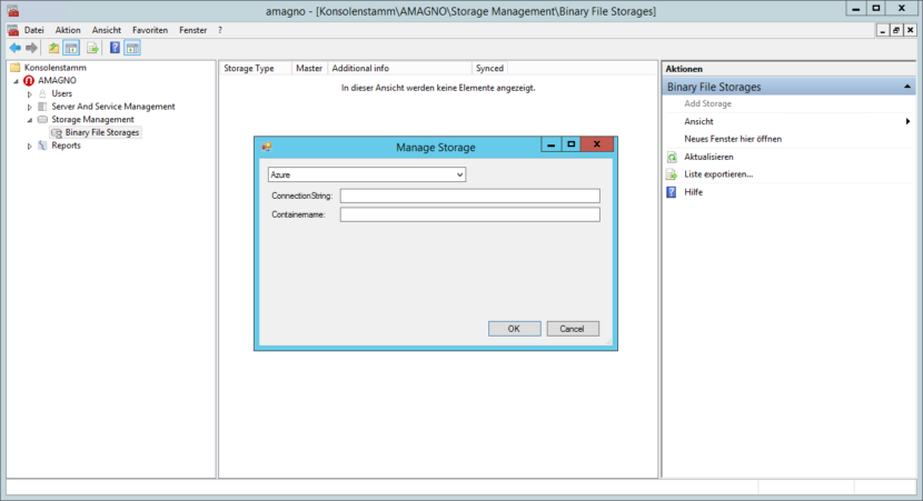 amagnohybrid02 830x451 - How-To: Hybride Datenspeicherung AMAGNO On Premise und Azure Cloud