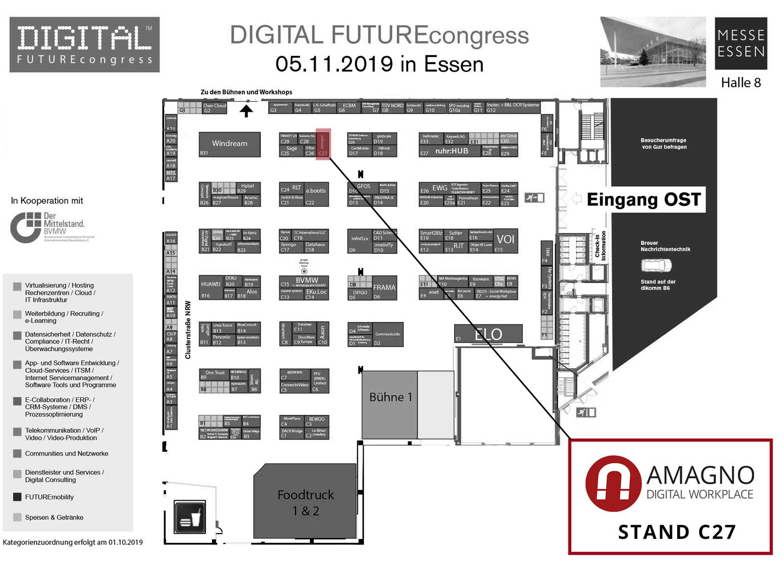 Hallenplann DFC c27 - DIGITAL FUTUREcongress Essen 2019