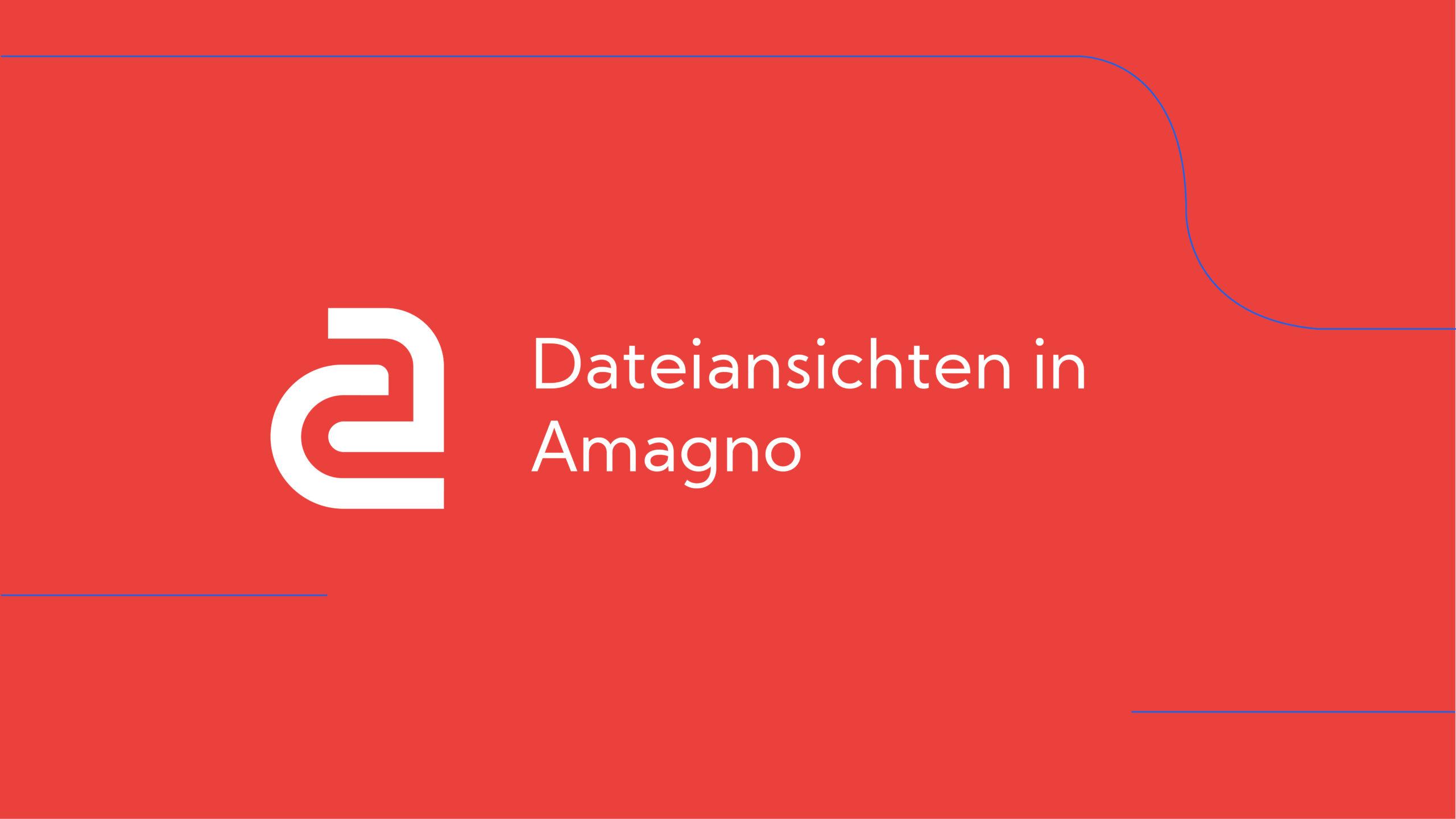 How-To: AMAGNO Basics – Dateiansichten