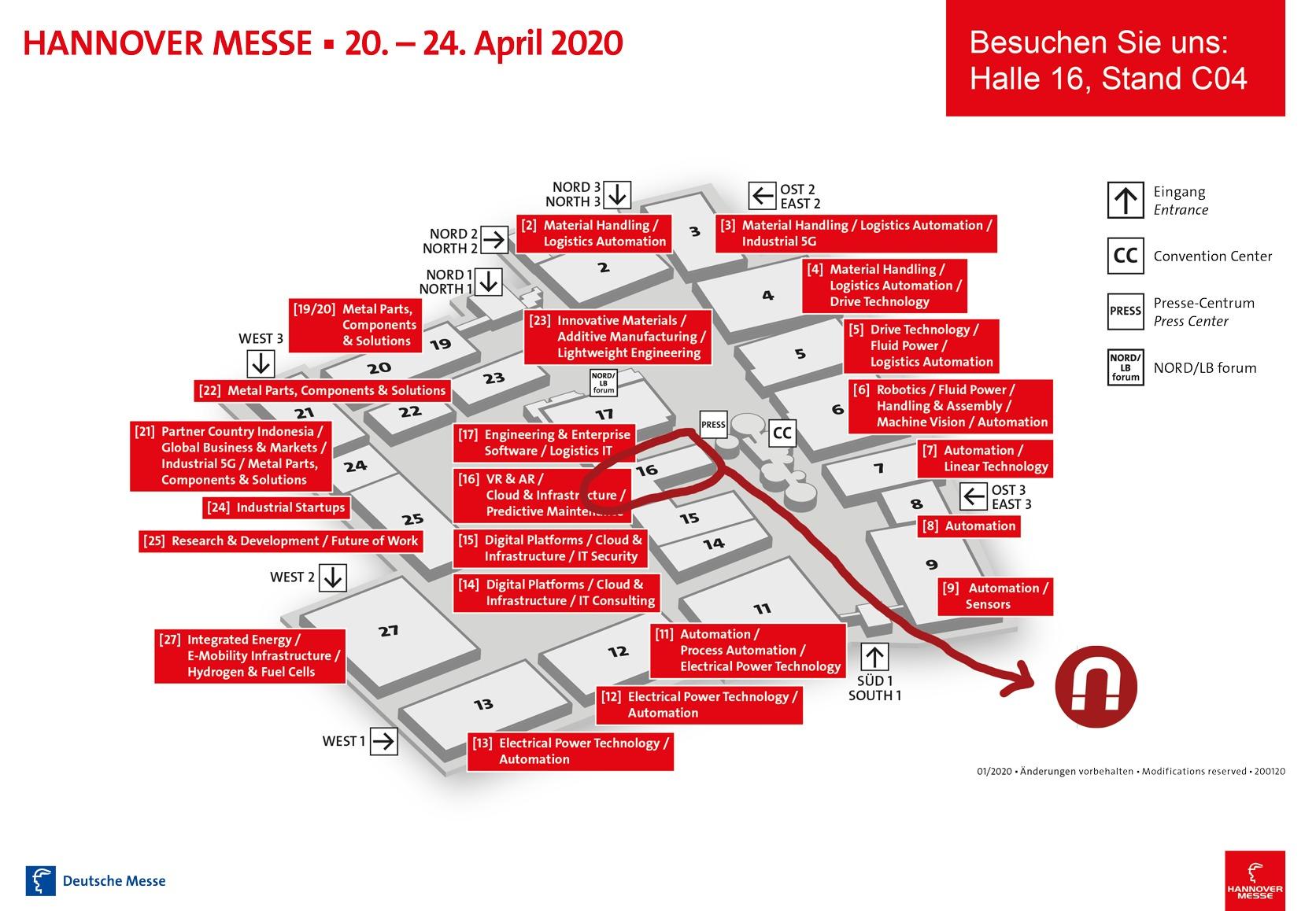 vorl.Hallenplan HM 20 - Hannover Messe 2020
