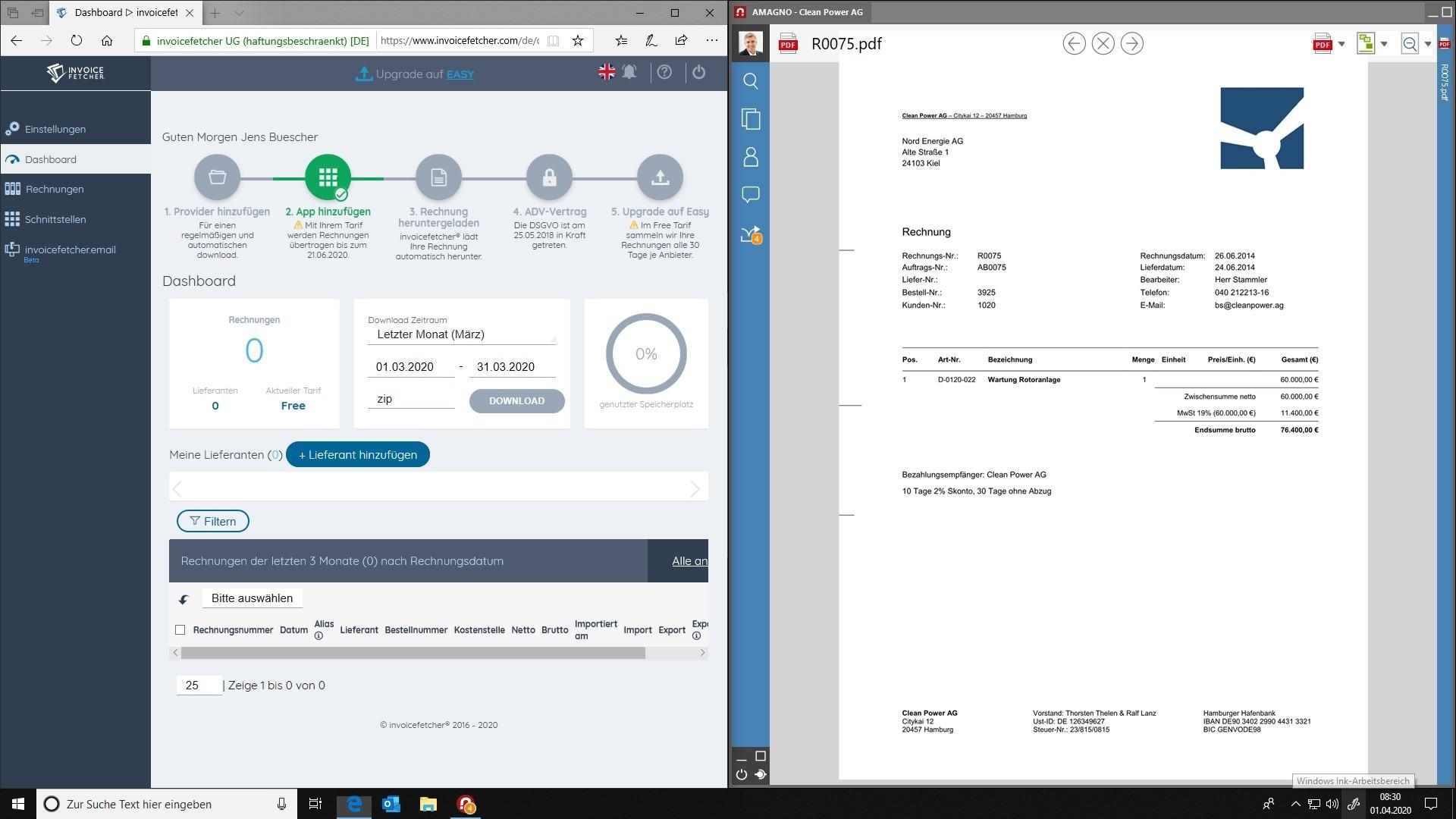 invoicefetcher & AMAGNO: Kooperation bringt Digitalisierung auf nächste Ebene