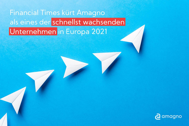 Financial Times prämiert Amagno als schnellst wachsendes Unternehmen